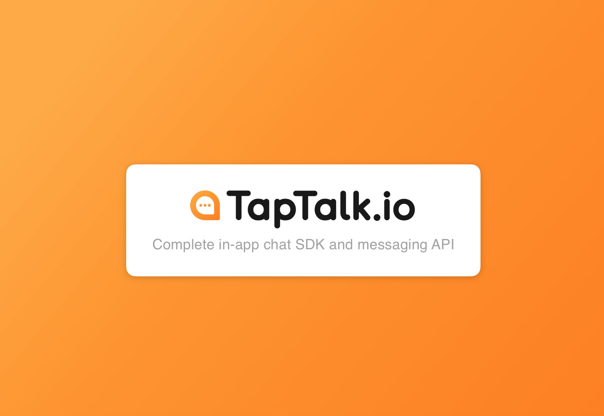TapTalk.io, a new Chat SDK Alternative
